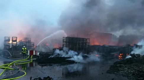 Einsatz: Großbrand bei Recyclingbetrieb – 03.06.2020